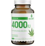 ECOSH vitaminas D3 4000TV su ekologiškų kanapių sėklų miltais kapsulės N90