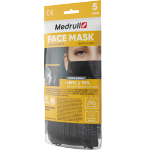 Medrull kaukė medicininė 3 sluoksnių N5 (juoda)