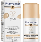 Pharmaceris F intensyviai dengianti maskuojanti pudra SPF20 Nr.2