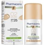 Pharmaceris F Mattifying fluid poras siaurinanti matinė pudra Nr.2 30ml