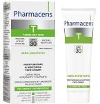 Pharmaceris T drėkinamasis - raminamasis kremas veidui SPF30 gydymo nuo spuogų metu ir po gydymo Sebo Moistatic 50ml